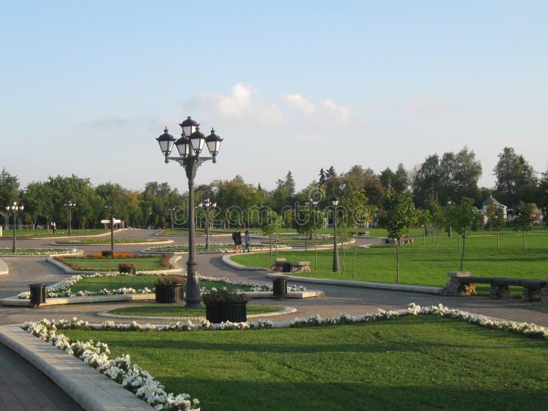 Gräsplan parkerar Minsk royaltyfri foto