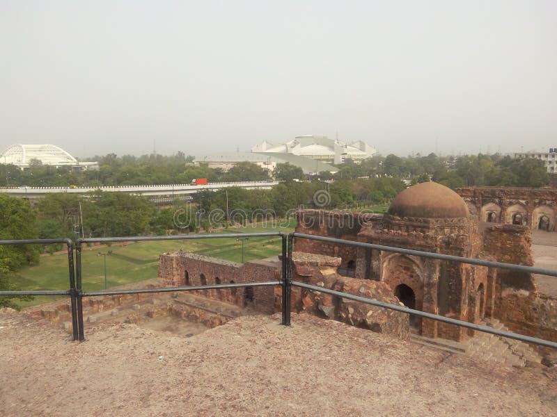 Gräsplan parkerar New Delhi royaltyfri fotografi