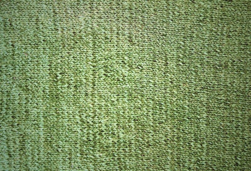 Gräsplan stack woolen textur En prövkopia av sticka för framdel arkivfoto