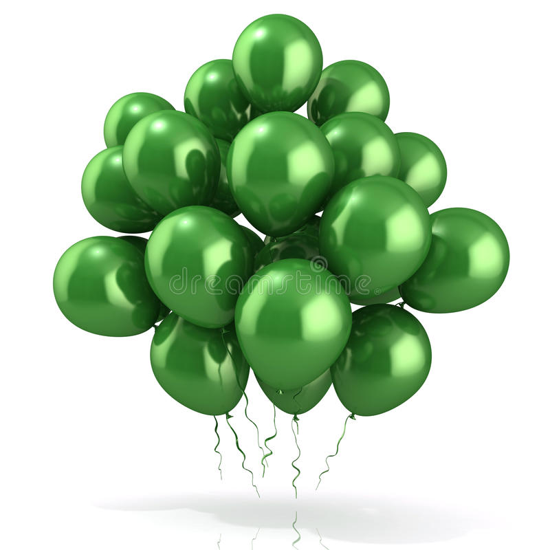 Gräsplanballongfolkmassa vektor illustrationer