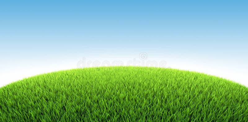 grässlätt stock illustrationer