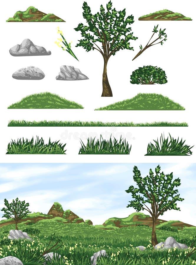 Gräs dal krok upp