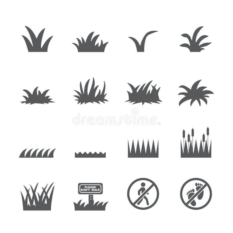 Grässymbolsuppsättning royaltyfria foton