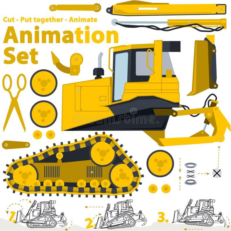 Grävareutklipp vektor illustrationer