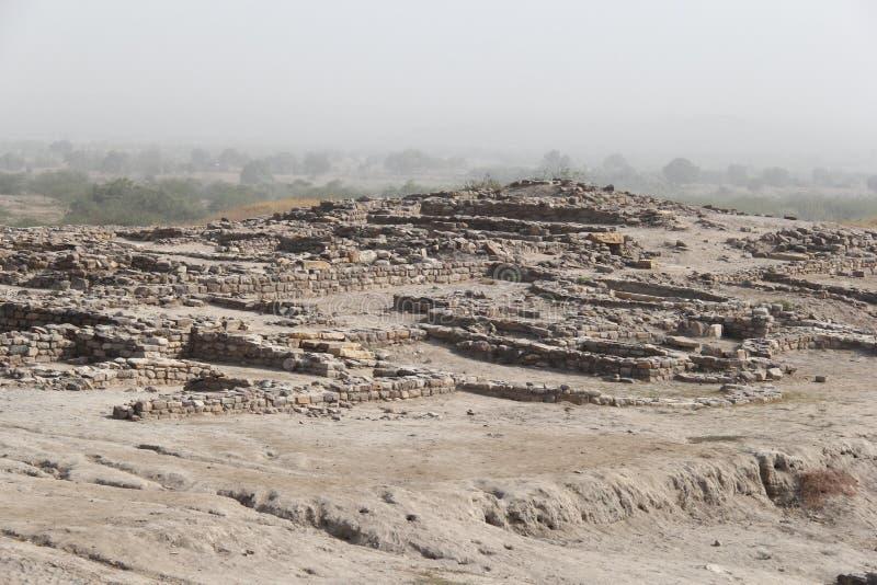 Grävd Harappa civilisation arkivfoto