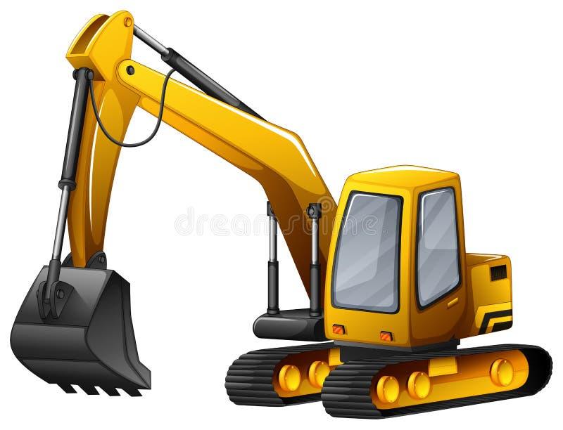 grävskopa stock illustrationer