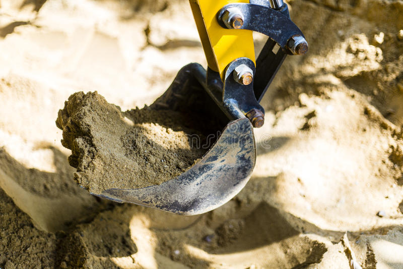 grävskopa royaltyfri fotografi