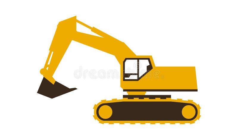 Grävskopasymbol också vektor för coreldrawillustration Göra slät stil vektor illustrationer