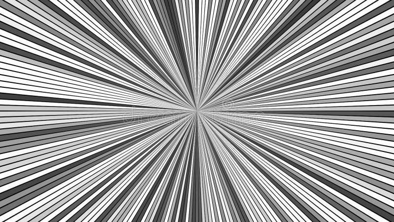 Grå abstrakt bakgrund för stjärnabristningsband - explosivt diagram för vektor royaltyfri illustrationer