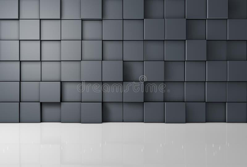 Grå arkitekturbakgrund stock illustrationer