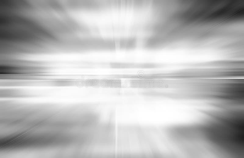 Grå bakgrund för teknologiabstrakt begrepprörelse av hastighetsljus royaltyfri bild