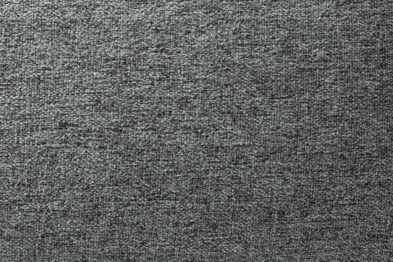 Grå bomullstexturbakgrund Detalj av textilmaterial arkivfoto