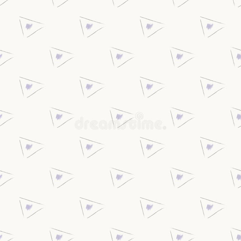 Grå enkel sömlös abstrakt modell för triangel stock illustrationer