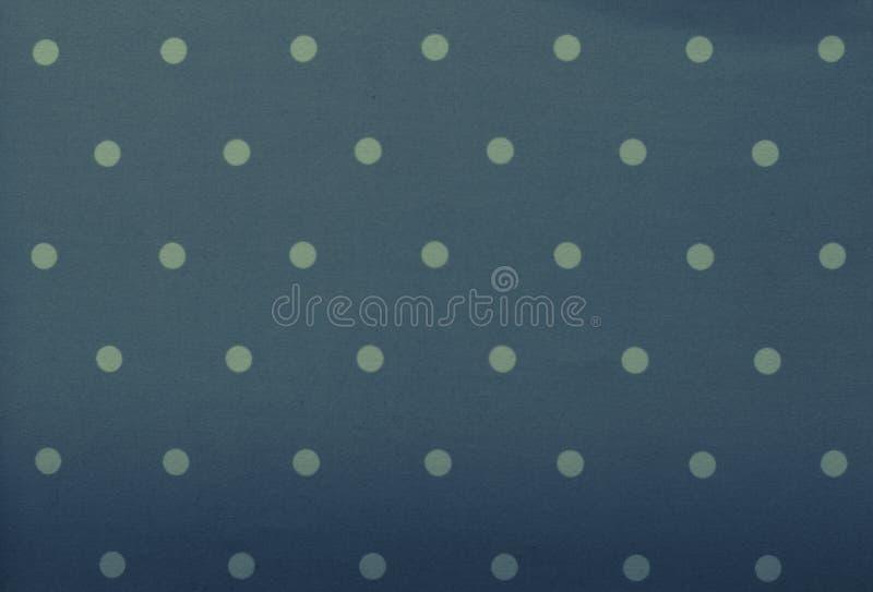 Grå färg-blått tyg och vit mycket liten prickbakgrund royaltyfri fotografi