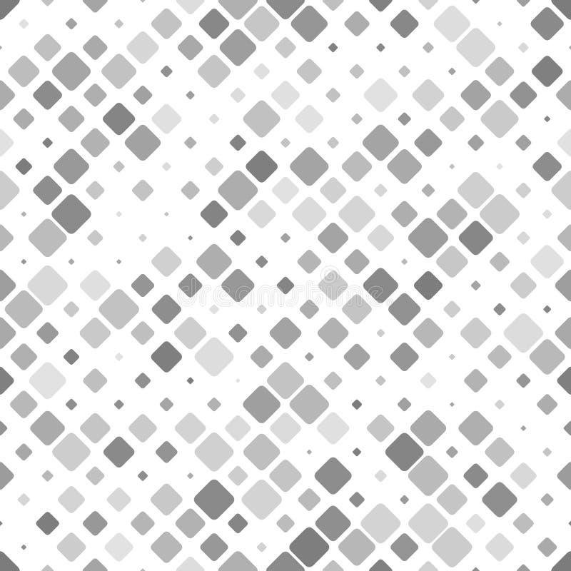 Grå färgabstrakt begrepp som upprepar design för bakgrund för diagonalfyrkantmodell stock illustrationer