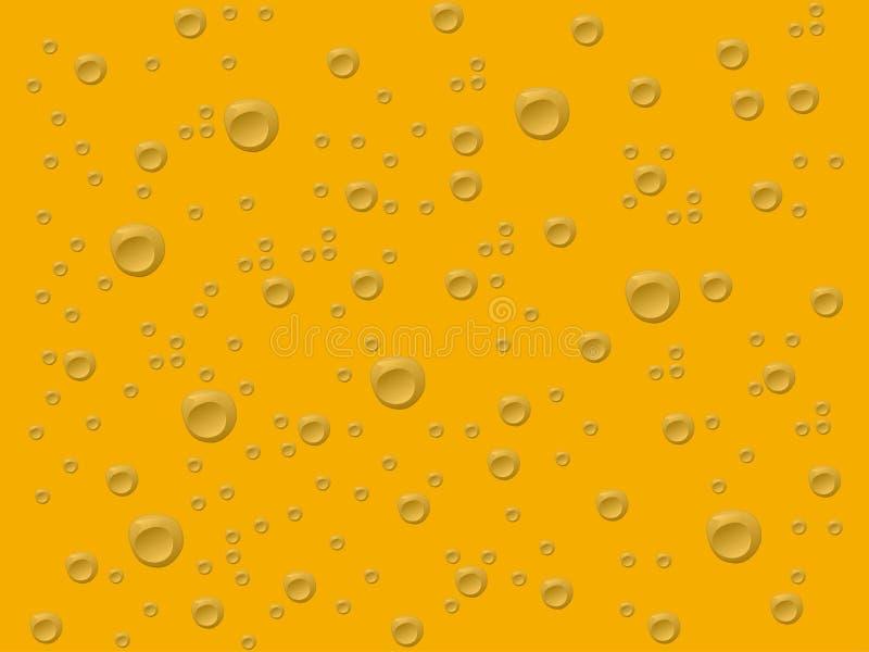 Grå färgdroppar i guld- bakgrund stock illustrationer