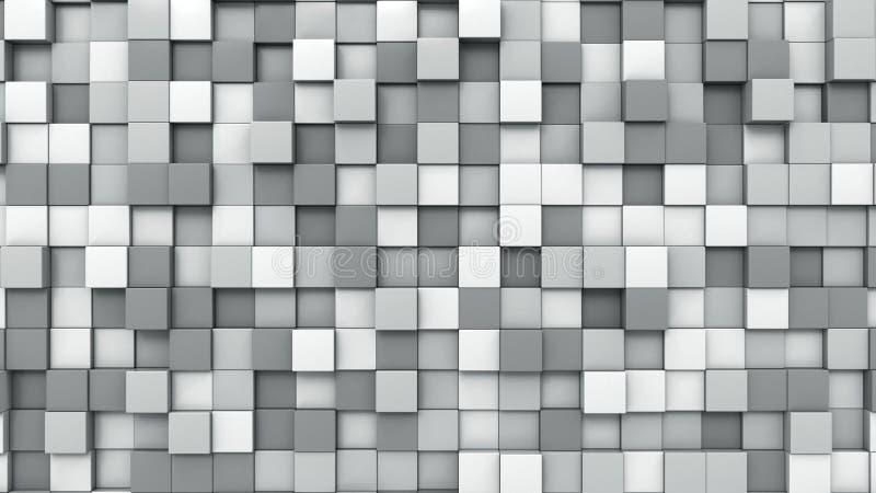 Grå färgen skära i tärningar bakgrund, tolkningen 3D arkivfoto