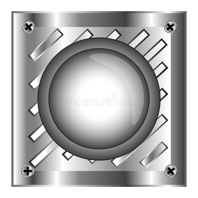 Download Grå Färger Alarmerar Den Skinande Knappen Med Metallbeståndsdelar, Bakgrund Vektor Illustrationer - Illustration av elkraft, elektricitet: 78728696