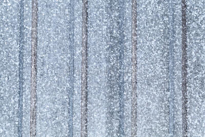 Grå färger galvaniserat ridged stålark arkivbilder