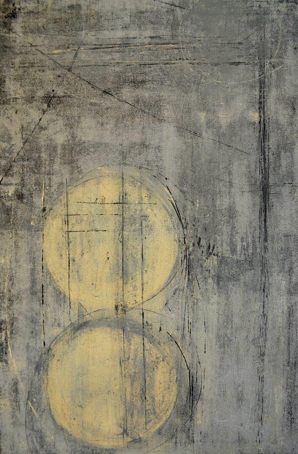 Grå färger och beiga abstrakta Art Painting vektor illustrationer