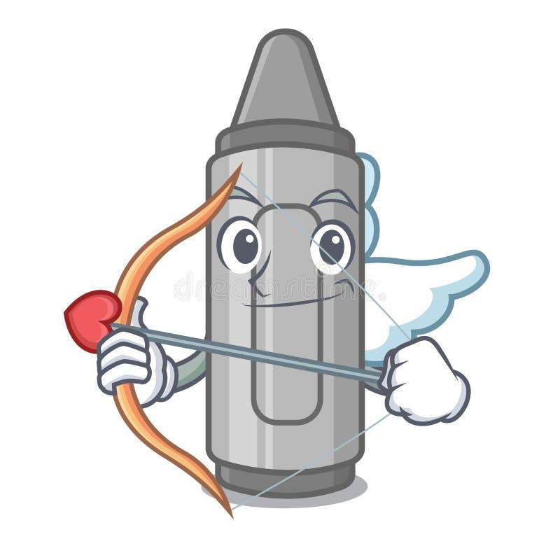 Gr? f?rgpenna f?r kupidon som isoleras med tecknade filmen vektor illustrationer