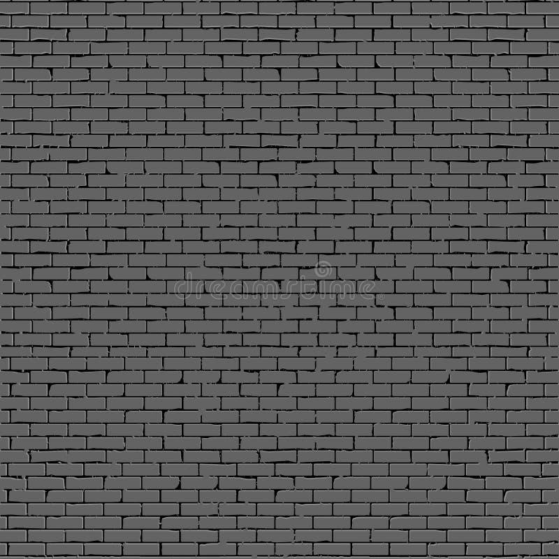 Grå färgtegelstenvägg vektor illustrationer