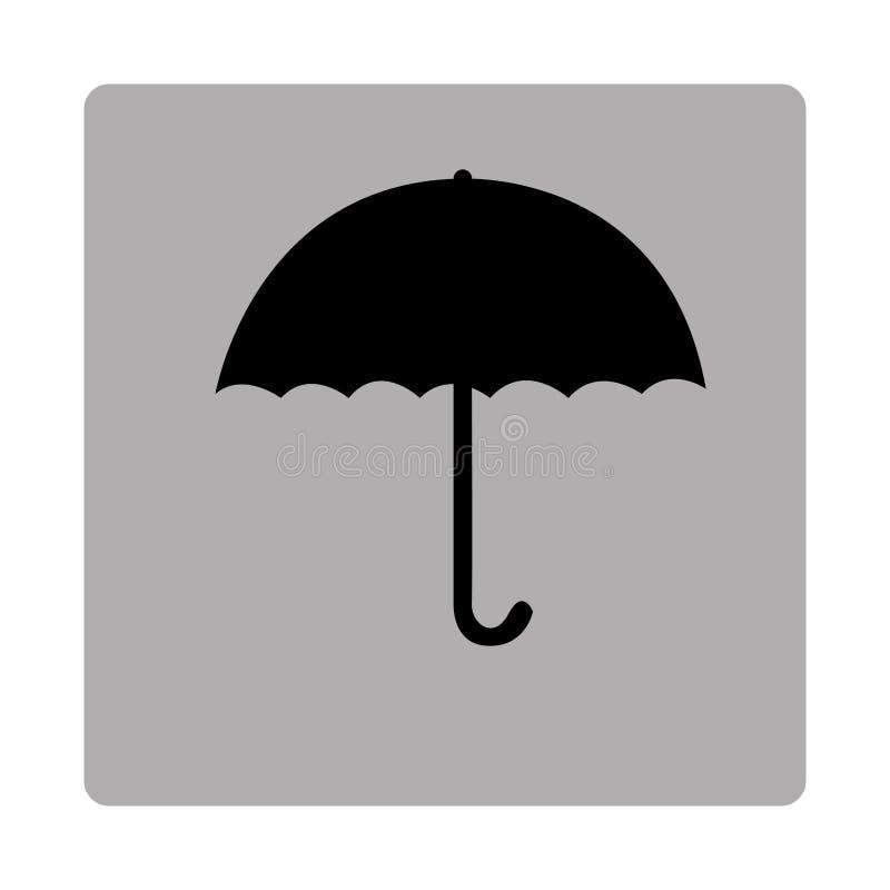 grå fyrkantig ram med konturparaplyet stock illustrationer