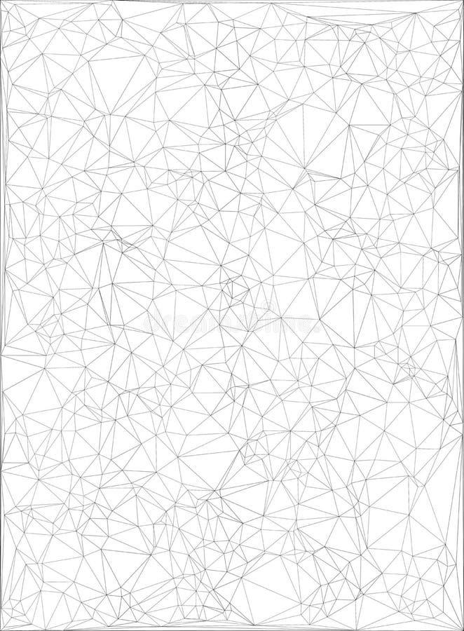 Grå geometrisk design royaltyfri illustrationer