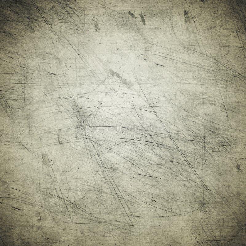 Grå grungebakgrund av gammalt papper, fläckar, damm, skrapor, ro royaltyfri bild