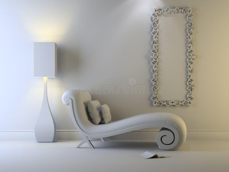 grå interior stock illustrationer