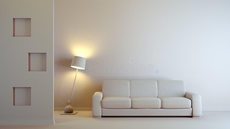grå interior royaltyfri illustrationer