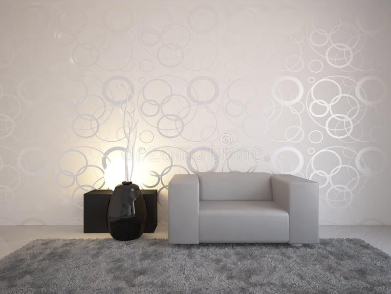 grå interior för design royaltyfri illustrationer