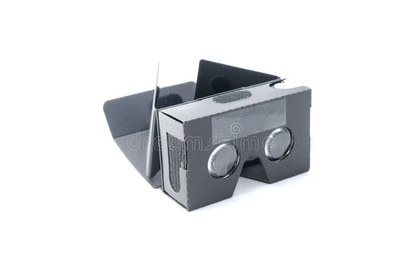 Grå isolerad virtuell verklighethörlurar med mikrofon fotografering för bildbyråer