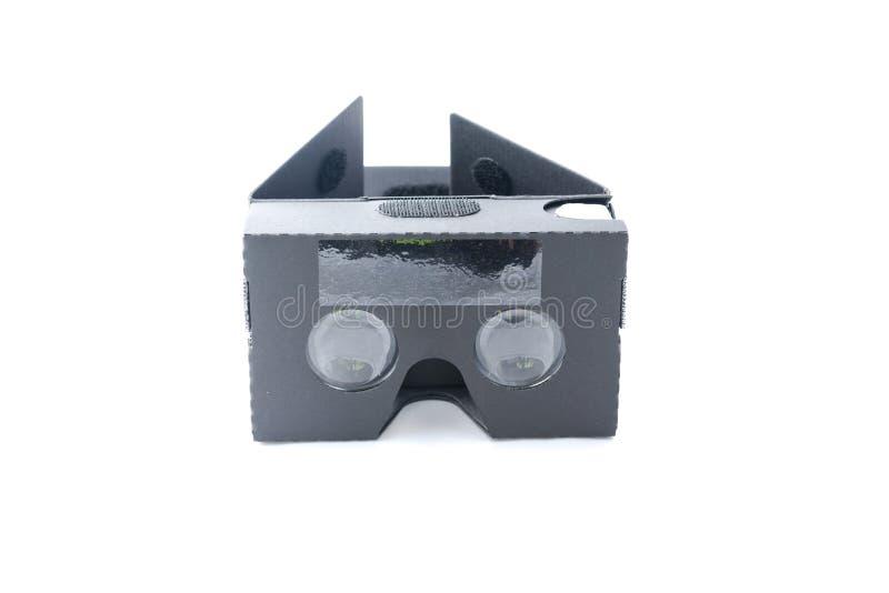 Grå isolerad virtuell verklighethörlurar med mikrofon royaltyfri fotografi