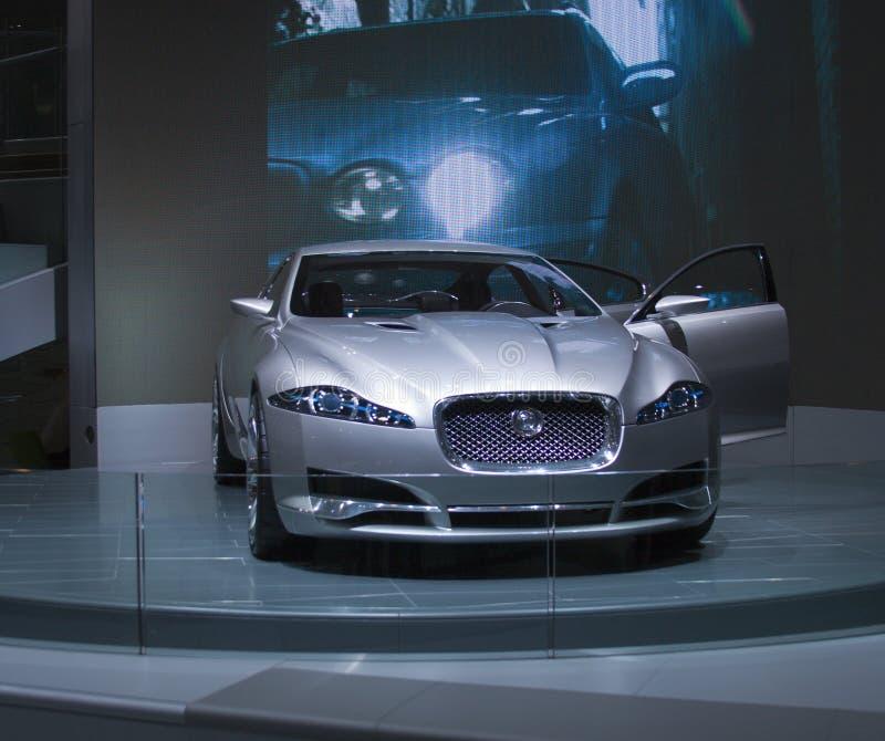 grå jaguarxf för c royaltyfria bilder