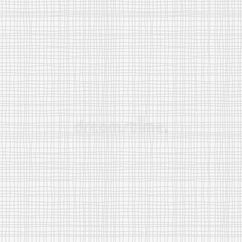 Grå kanfassäckvävtextur, sömlös rutig modell Gray Linen tygtextil royaltyfri illustrationer