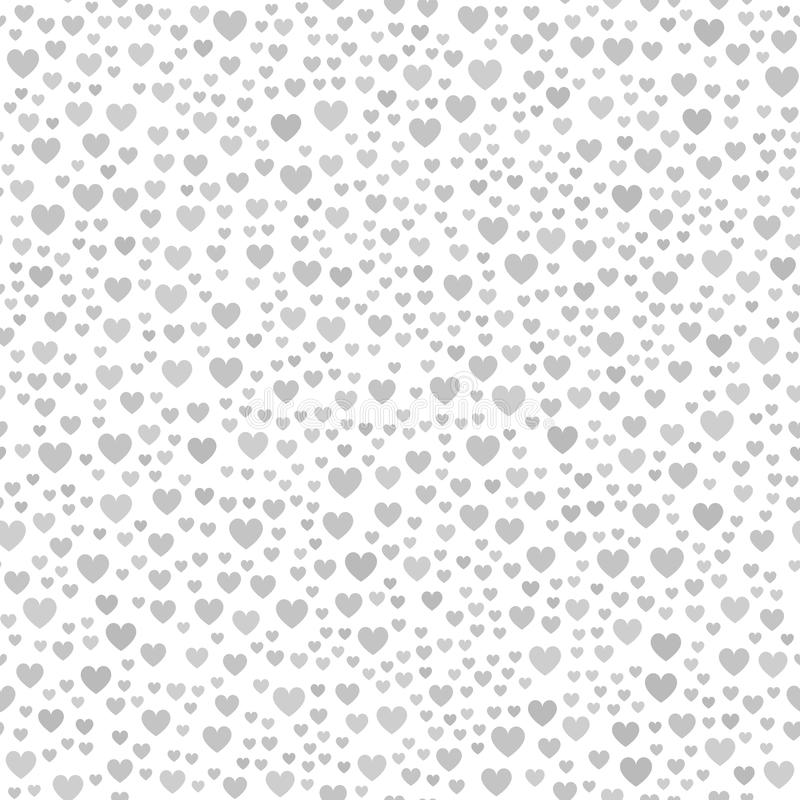 Grå kaotisk hjärtamodell seamless vektor för bakgrund vektor illustrationer