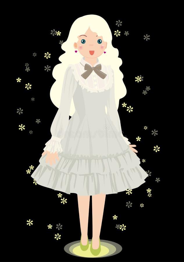 grå ljus skirt royaltyfri illustrationer