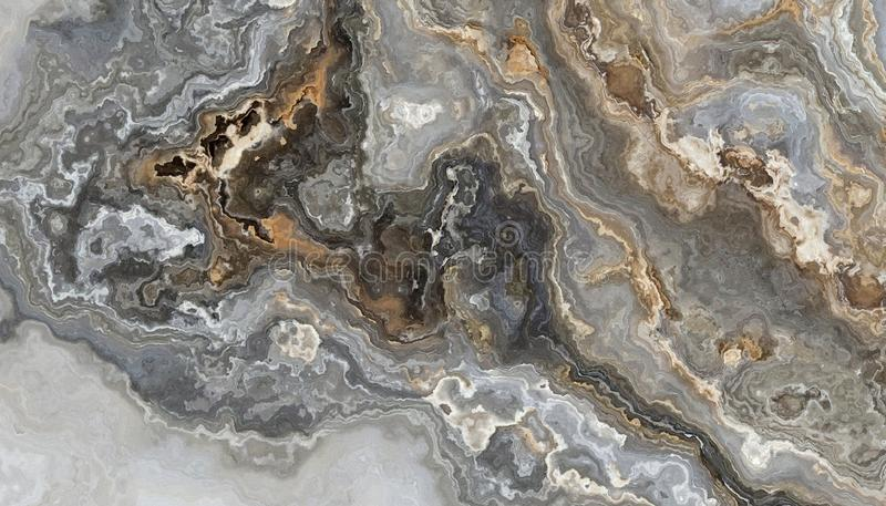 Grå lockig marmor vektor illustrationer