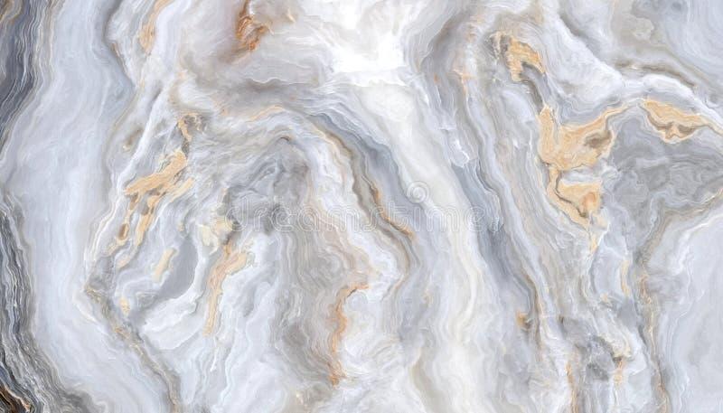 Grå lockig marmor stock illustrationer
