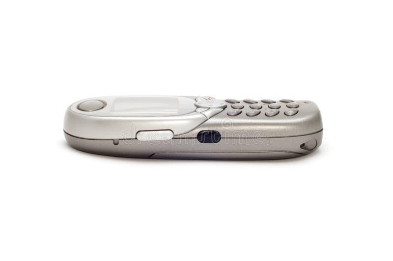 grå mobil telefon royaltyfria bilder