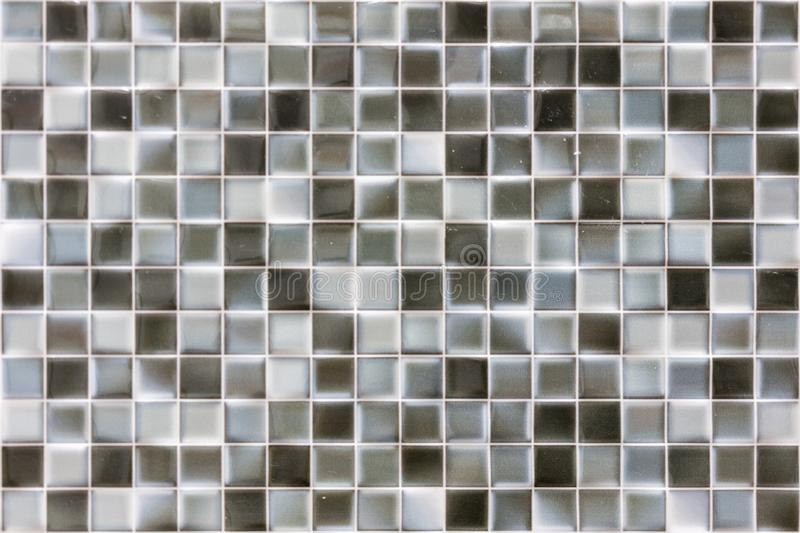 Grå mosaikbakgrund Försilvra sömlös bakgrund för paljetter Abstrakt sömlös mosaikbakgrund royaltyfri foto