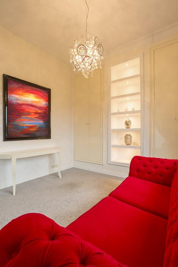 Grå och röd lägenhet royaltyfri bild
