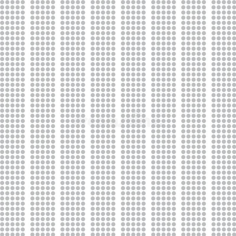 Grå randig halva-ton av prickar på vit royaltyfri illustrationer