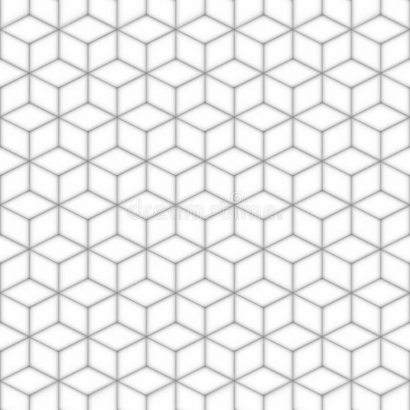 Grå sömlös fyrkantig modell abstrakt bakgrund stock illustrationer