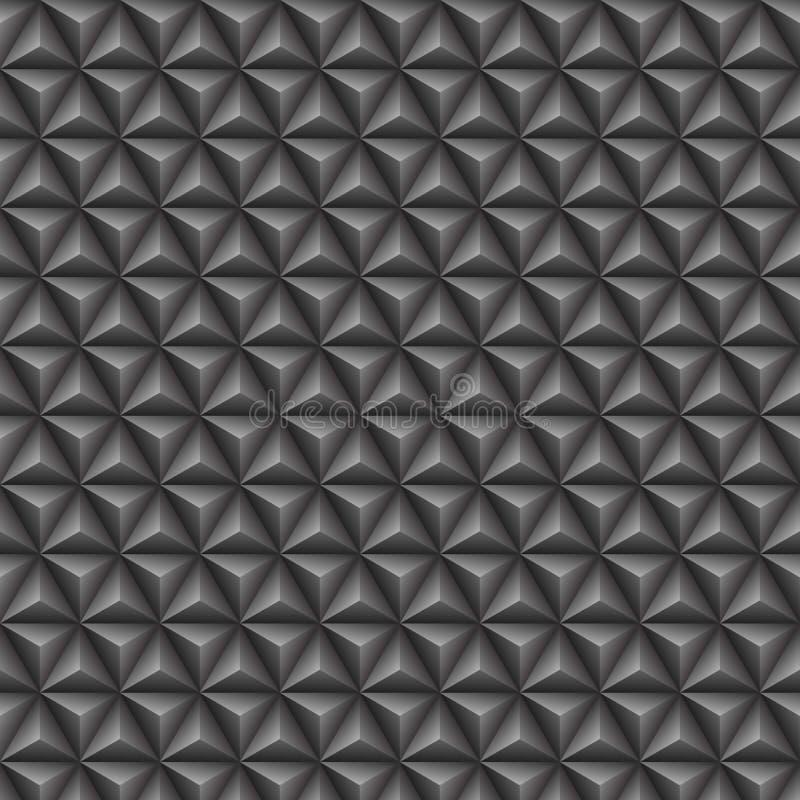 Grå sömlös modell för triangel 3d vektor illustrationer