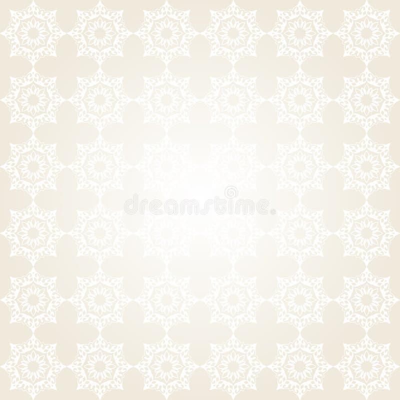 Grå sömlös modell med orientaliskt motiv Patchworkbakgrund royaltyfri illustrationer