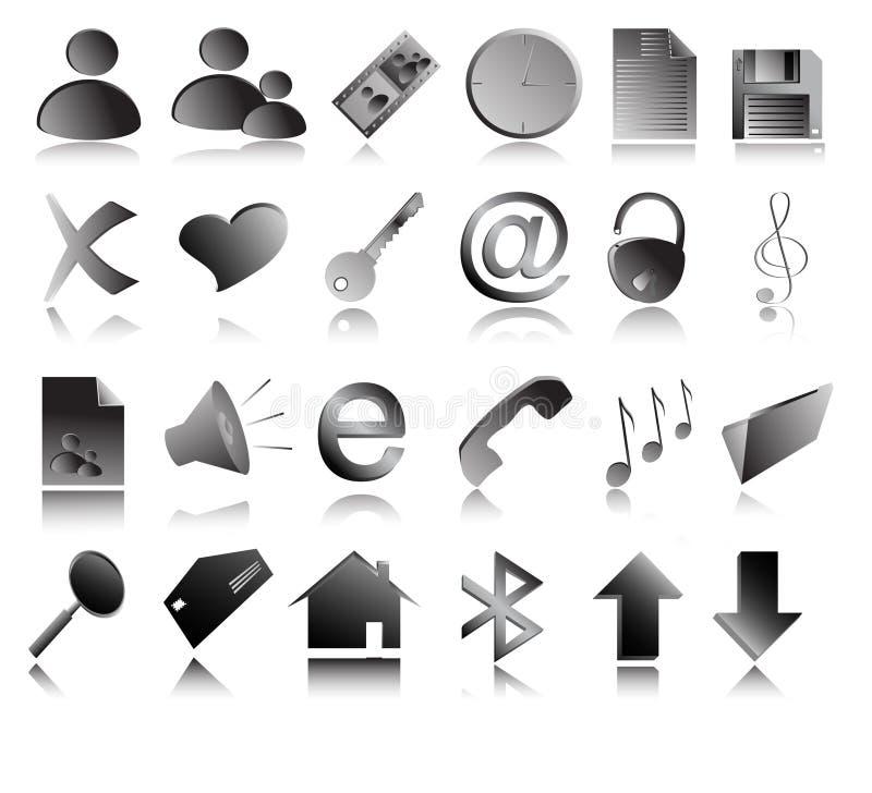grå symbolsvektorrengöringsduk royaltyfri illustrationer