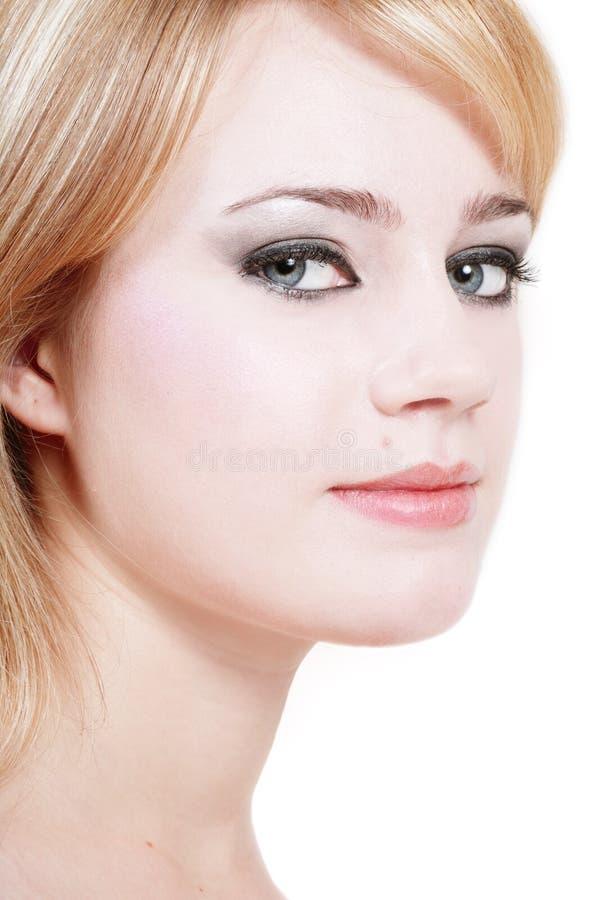 Grå-synad skönhet royaltyfri foto