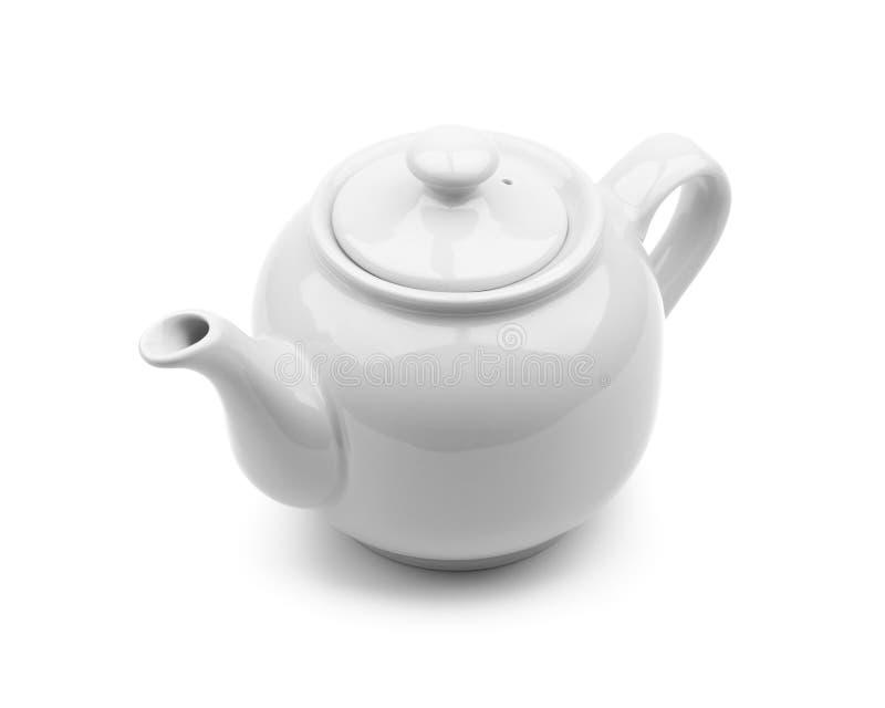 grå teapot arkivfoto